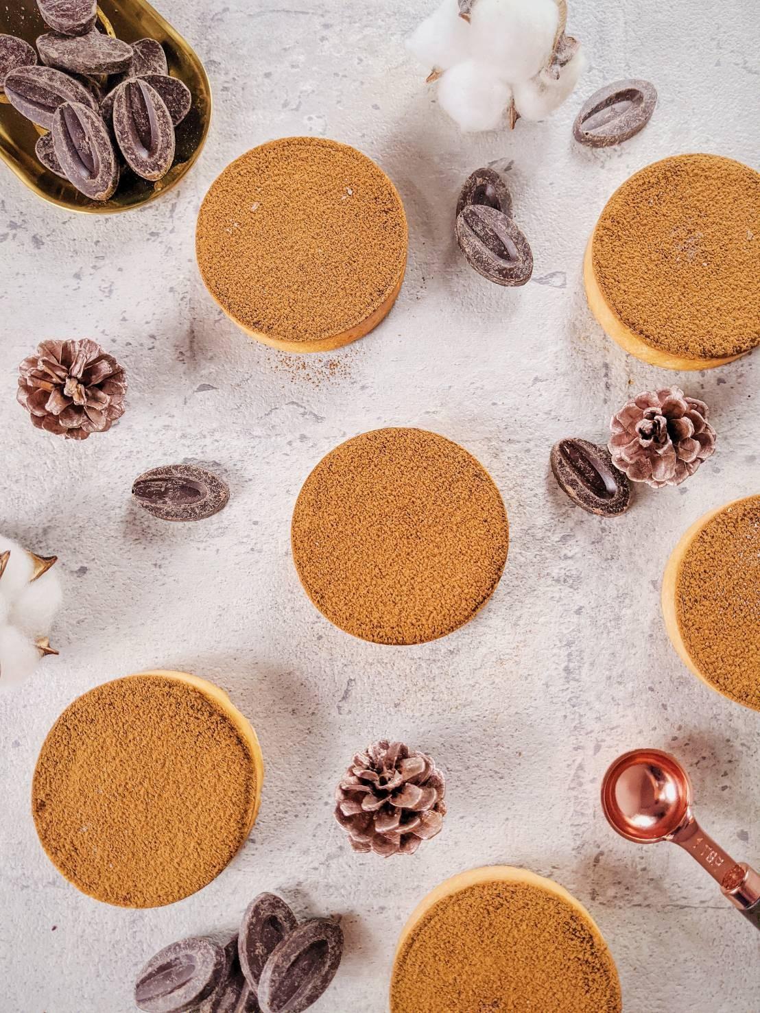 伯爵法芙娜生巧塔/3吋  #伯爵 #法芙娜巧克力 #生巧克力 #甜塔 #法式甜塔   #蛋奶素