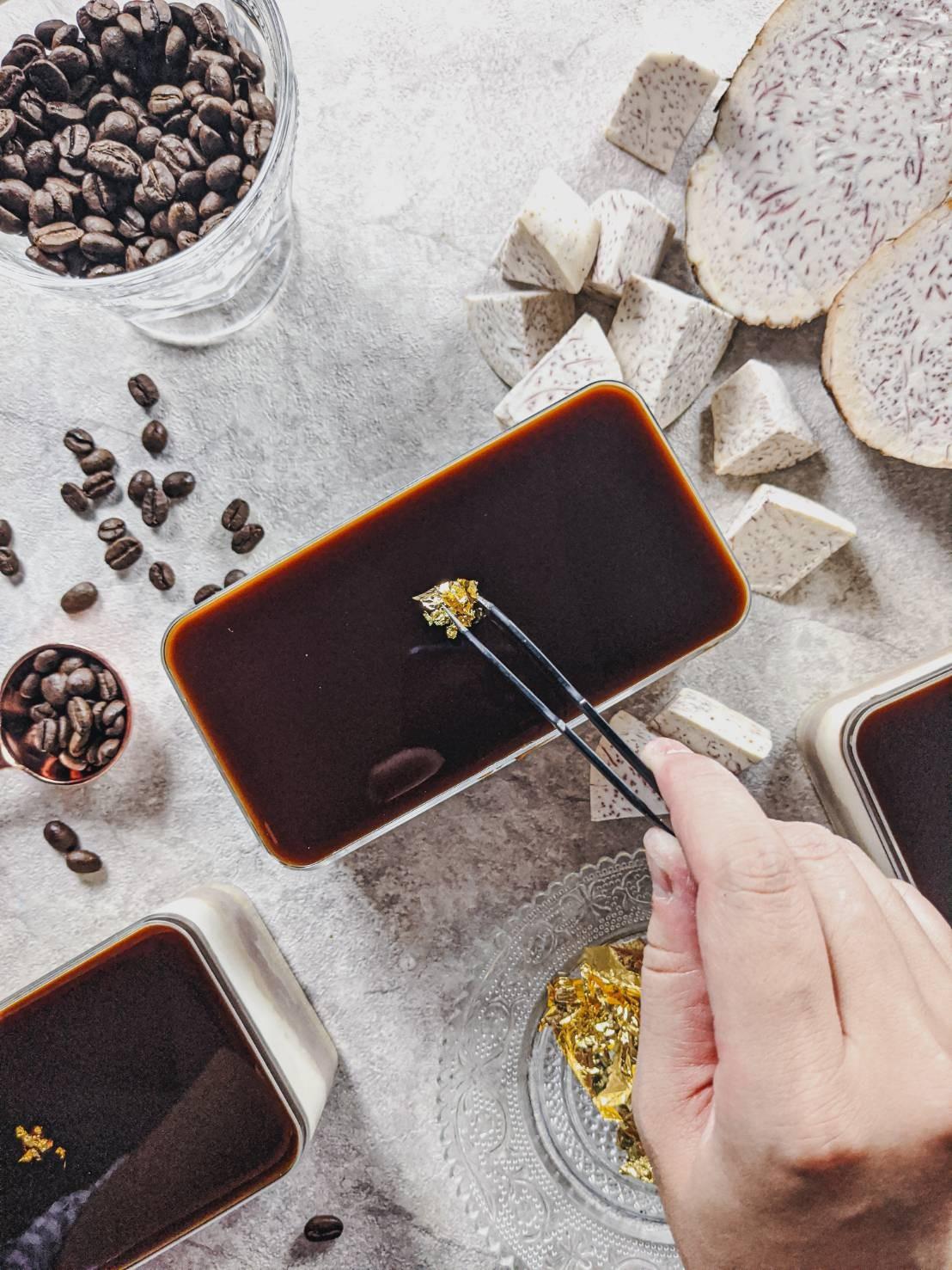 畫龍點金 水晶奶酪芋泥寶盒 #非素食#彌月禮盒#芋泥#蛋糕#伴手禮