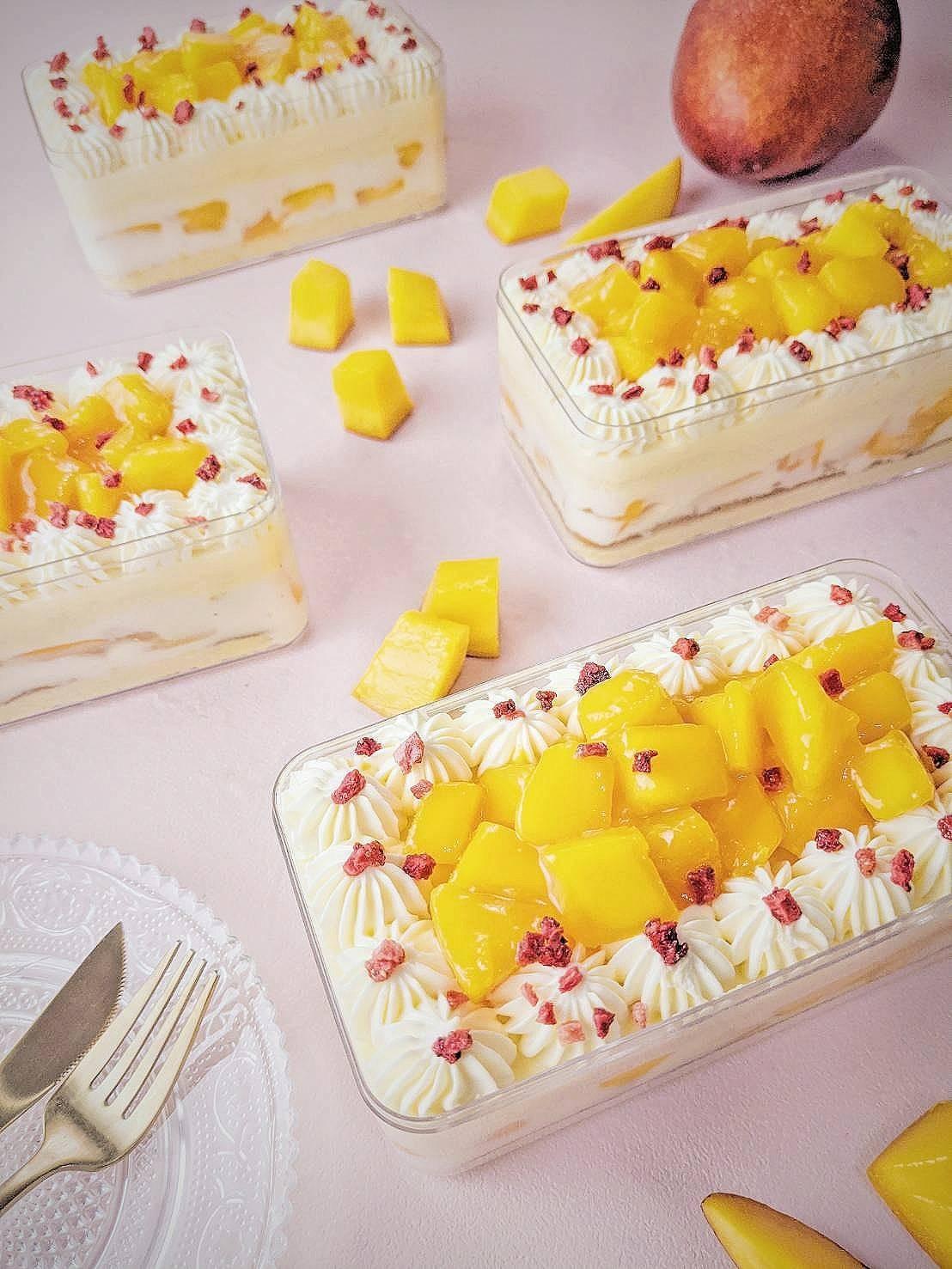 香芒萬丈 芒果寶盒#非素食#彌月禮盒#愛文芒果#百香果#蛋糕#伴手禮