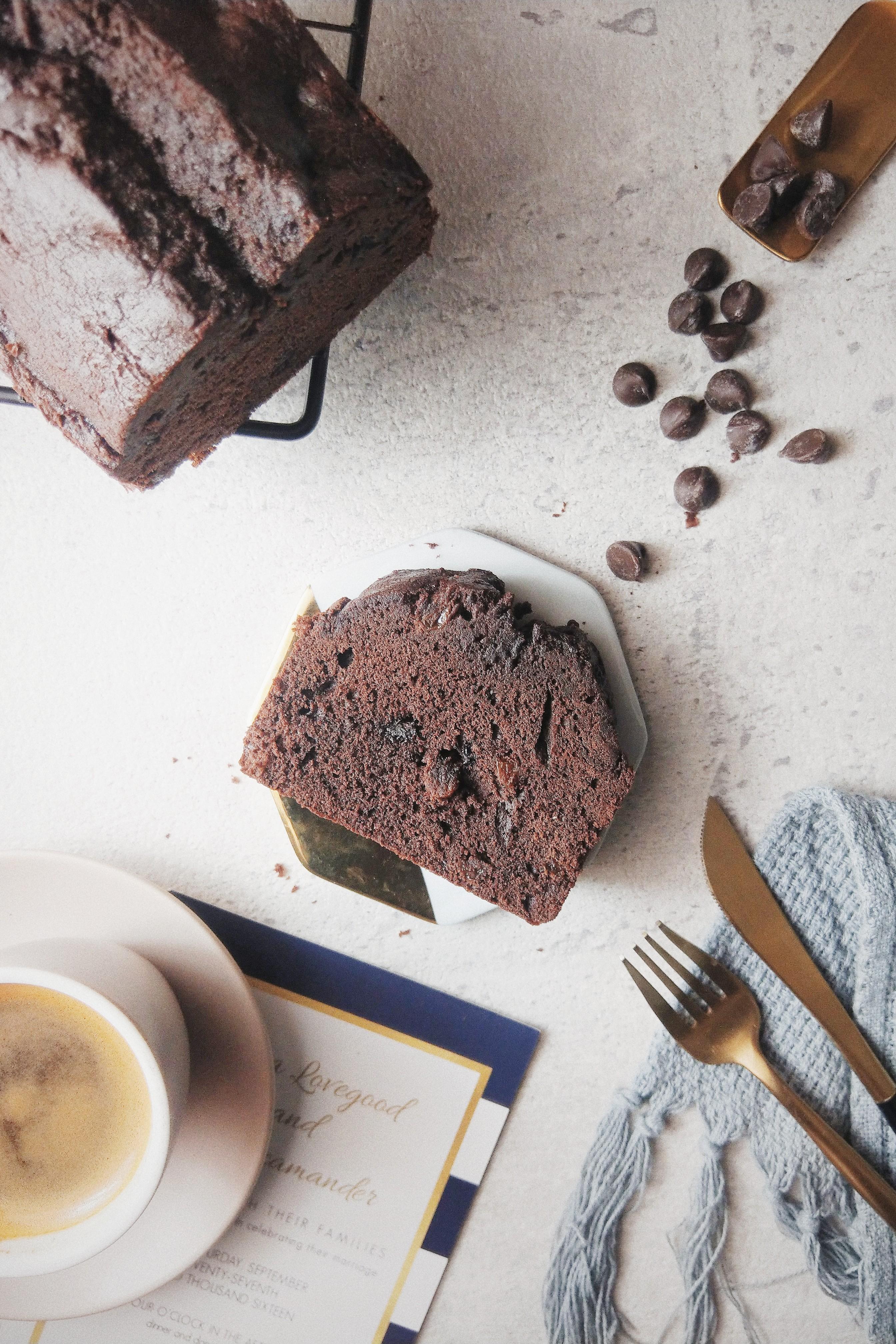 萊姆葡萄巧克棒蛋糕  #蛋奶素