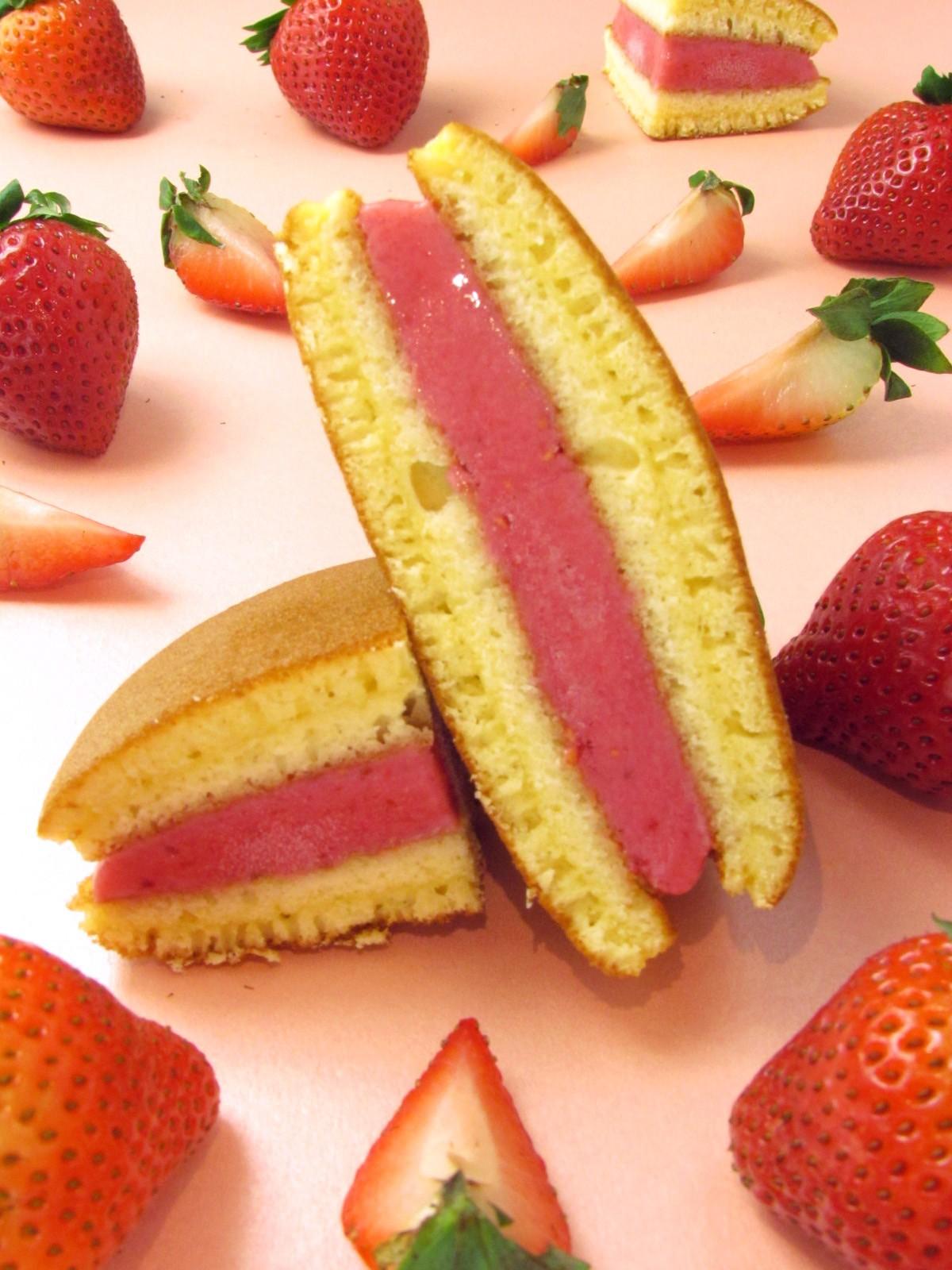珍崎冰沁燒(銅鑼燒冰淇淋)-森林雙莓果口味    #蛋奶素#草莓#覆盆子#銅鑼燒