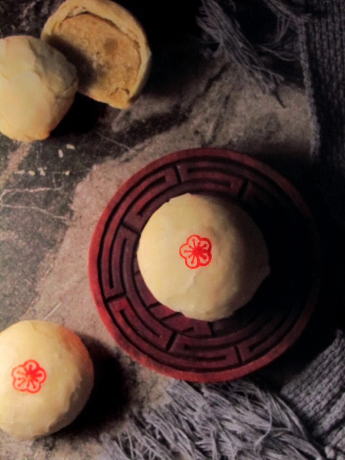 逍遙伴月-珍崎綠豆椪  #綠豆凸#中秋#月餅#奶素