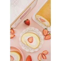 草莓香緹生乳捲  #新鮮草莓 #蛋奶素#彌月禮盒