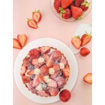 季節限定 飛舞草莓甜塔/六吋