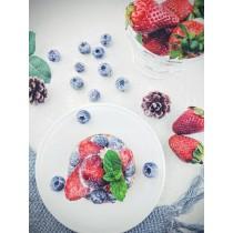綻放草莓塔/3吋   #蛋奶素