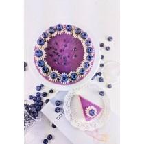 漸層藍莓優格生乳酪(附淋醬)/6吋  #非素食#藍莓#優格