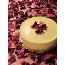 伯爵玫瑰生乳酪(附淋醬)/3吋  #非素食#伯爵茶#山形玫瑰#玫瑰純露#玫瑰花瓣