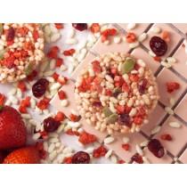 多莓香香巧克脆片  #奶素#草莓#覆盆子#蔓越莓#南瓜子#白巧克力#少女粉嫩
